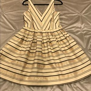 J. Crew Gold and Black Shimmery Party Dress